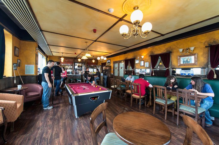 Google Campus Dublin | 1GC - Irish Pub The Shaven Yak - Floor Identity: Dublin City #GoogleDublin, #Office, #Games, #Play, #PoolBilliards, #IrishPub
