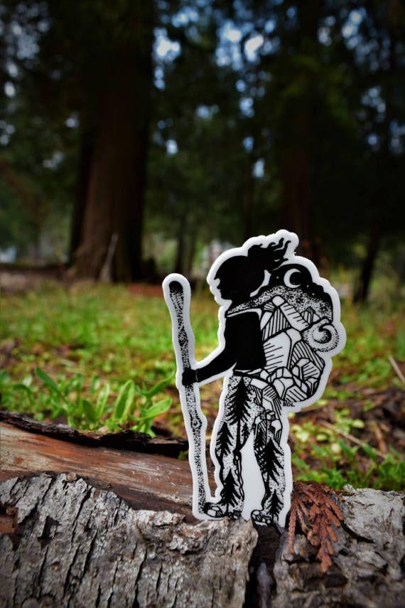 Hiker Girl 4 Weatherproof and durable Outdoor sticker