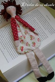 muñeca marca-páginas--children's bookmark?