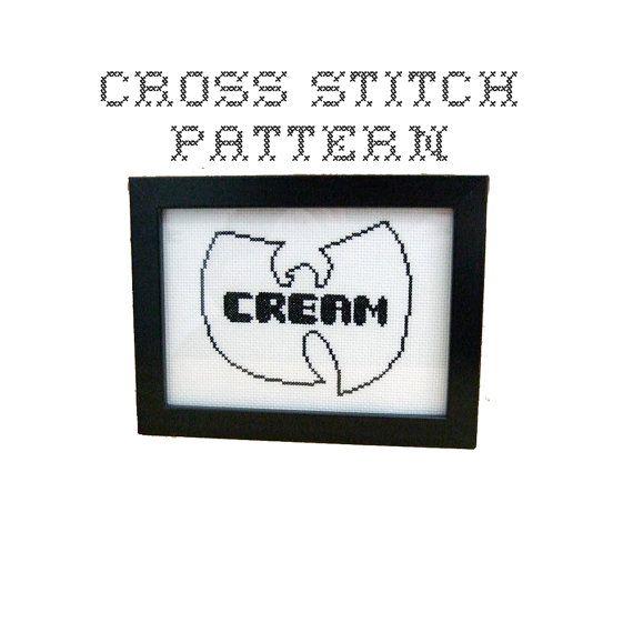 DIY CREAM  - Wu-Tang Clan  - .pdf Original Cross Stitch Pattern - Instant Download