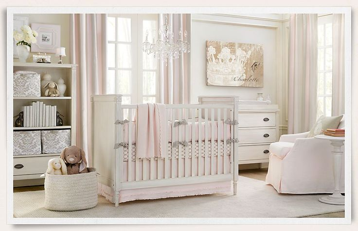 Gorgeous!: Restoration Hardware, Soft Pink, Pink Nurseries, Pale Pink, Baby Girls, Baby Rooms, Nurseries Idea, Girls Nurseries, Girls Rooms