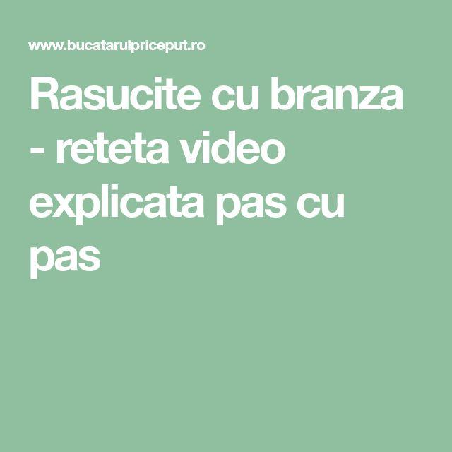 Rasucite cu branza - reteta video explicata pas cu pas