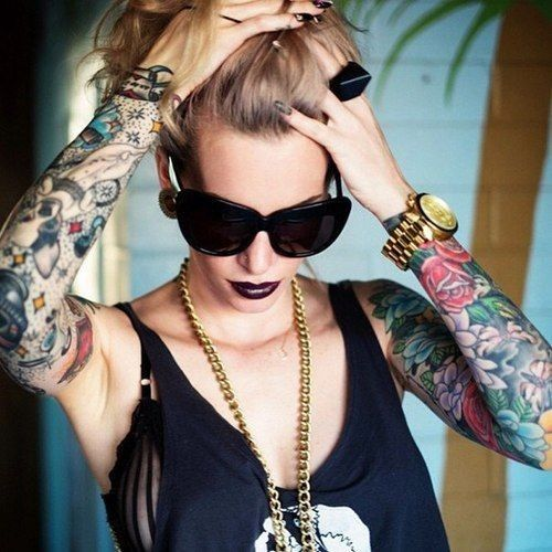 17 Best Ideas About Girl Sleeve Tattoos On Pinterest