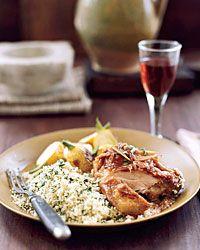 Chicken in Red Wine Vinegar Recipe on Food & Wine