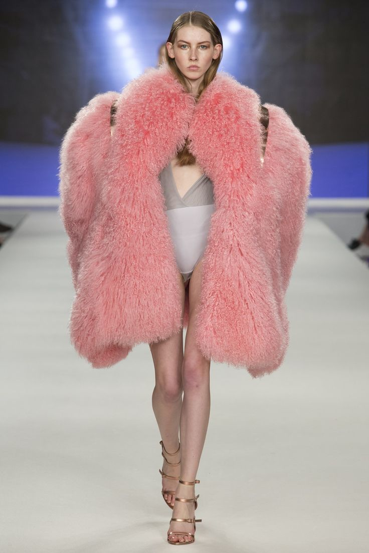 It's so pink and fluffy! Birmingham City University Spring/Summer 2017 Ready-To-Wear London Fashion Week