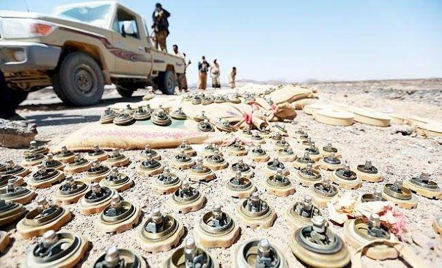 Syi'ah Houthi tebar ranjau buatan China  Ilustrasi (Arab News)  Kelompok hak asasi manusia Human Rights Watch (HRW) pada Kamis (20/4) mengecam penggunaan ranjau darat oleh milisi Syiah Yaman selama perang. Ranjau tersebut membunuh dan melukai ratusan warga sipil serta mencegah pengungsi kembali ke kampungnya menurut HRW. Pasukan pemberontak Syi'ah Houthi diketahui menggunakan ranjau darat di sekitar enam provinsi sejak Maret 2015 ketika koalisi pemerintah meluncurkan kampanye militer melawan…