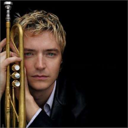 portrait pose with trumpet  Trumpeter Chris Botti
