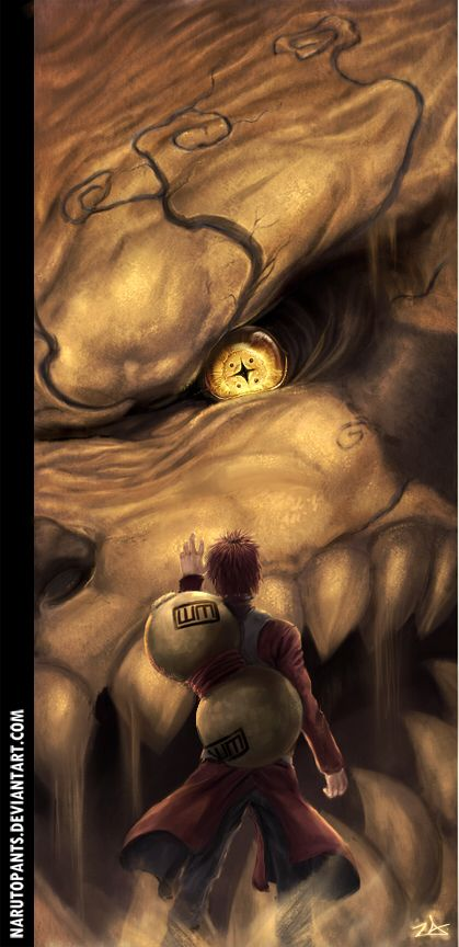 Loving this fanart of Gaara and Shukaku!! So glad their storyline continued on the newest chapters!