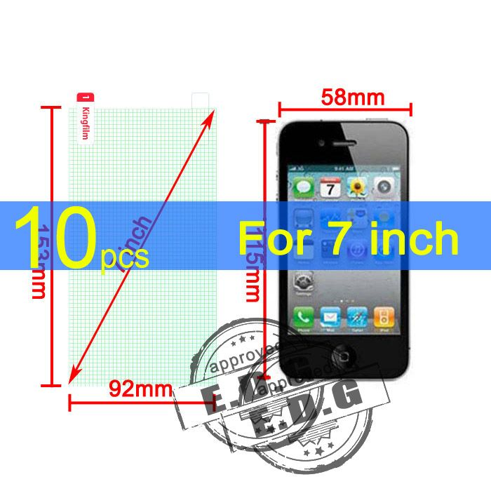 10pcs Ultra Clear/Matte/Glossy Screen Protector Film Cover For 7 inch mobile phone Tablet GPS MP4 MID 153X92MM Universal 7'' 7.0 #Affiliate
