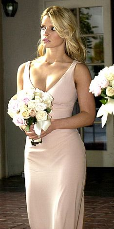 celeb bridesmaid:  love the soft neutral color and simplicity of this bridesmaid dress