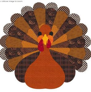 Big Fat Turkey Applique | FaveQuilts.com