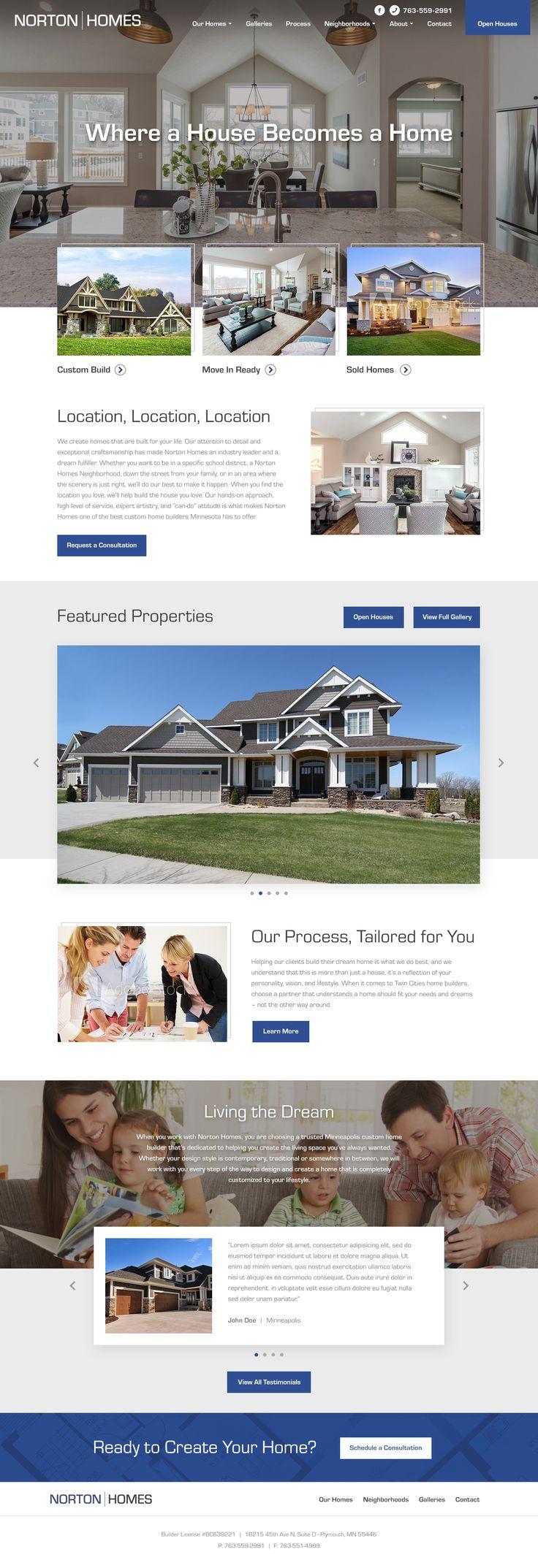 Home builder website design by: Mike Delsing