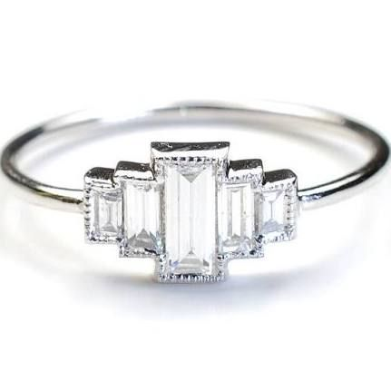 art deco wedding rings - Google Search