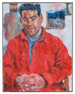 Joe in a Red Shirt - the favourite piece of our head gardener! http://www-art.newhall.cam.ac.uk/the-collection/by/artist/id/266/name/Susan+Wilson/artwork/414