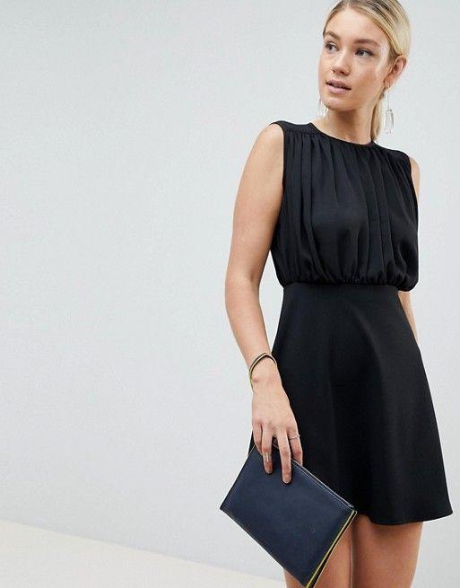 DESIGN – Kurzes Kleid aus Wollmischung in A-Linie   Buy Outfit ... 191f4ce712
