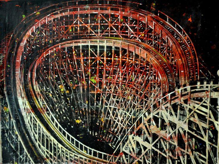 EKAV-ARTIST New Generation 4 sergisi: OĞUZ KALELİ - Ritim Tuval üzerine akrilik boya, 150x150cm, 2017