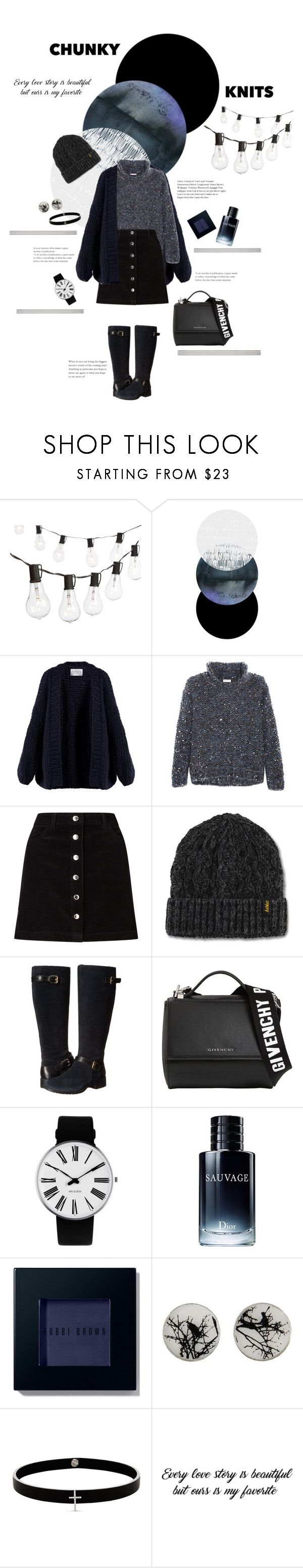 """{Chunky} Knitsʕ•ᴥ•ʔ"" by mojitae ❤ liked on Polyvore featuring Crate and Barrel, I Love Mr. Mittens, Brunello Cucinelli, Miss Selfridge, Dr. Martens, Cole Haan, Givenchy, Rosendahl, Christian Dior and Bobbi Brown Cosmetics"