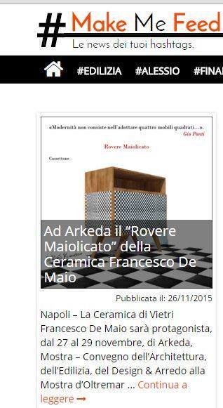 #Roveremaiolicato Ceramica Francesco De Maio #rassegnastampa #siparladinoi #Arkeda Tratto da http://www.makemefeed.com/2015/11/27/lucca-lantenna-srb-di-via-fonda-e-in-contrasto-con-il-piano-di-assetto-drogeologico-886475.html