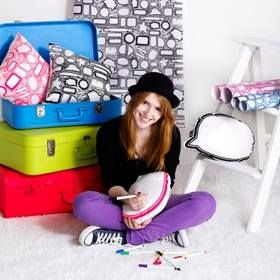 Dear Diary - Scribble It Cushion. Available at www.tweenscene.com.au