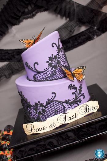 Purple Damask cake! Hostess with the Mostess® - Love At First Bite