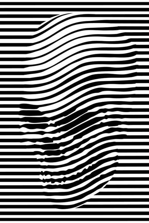 Noah Scalin. -stripe distortion