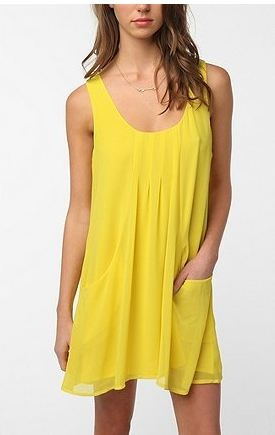 Urban Outfitters Yellow Dress.: Sparkle Dresses, Urban Outfitters, Yellow Dresses, Dresses Pockets, Pintuck Frock, Frock Dresses, Faded Pintuck, Sundresses, Sun Dresses