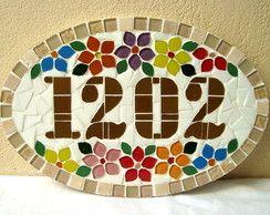 Numero mosaico Oval Pequeno