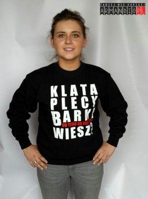 Bluza Damska z nadrukiem KLATA PLECY BARKI. Nowa kolekcja ARMANDIO