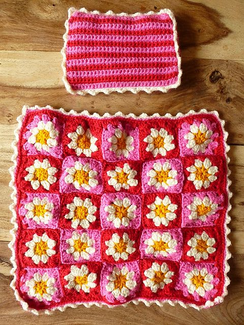 Missmarwoods Daisy Doll Blanket Inspired By The Free Pattern By