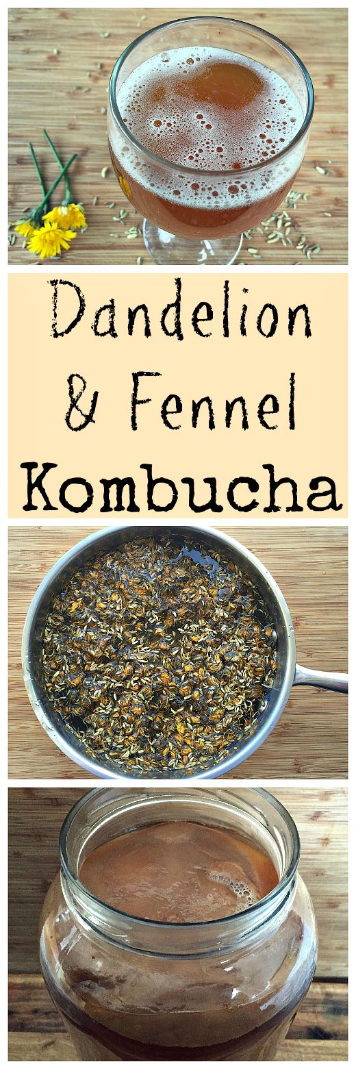 Make this herbal kombucha for wonderful gut health!