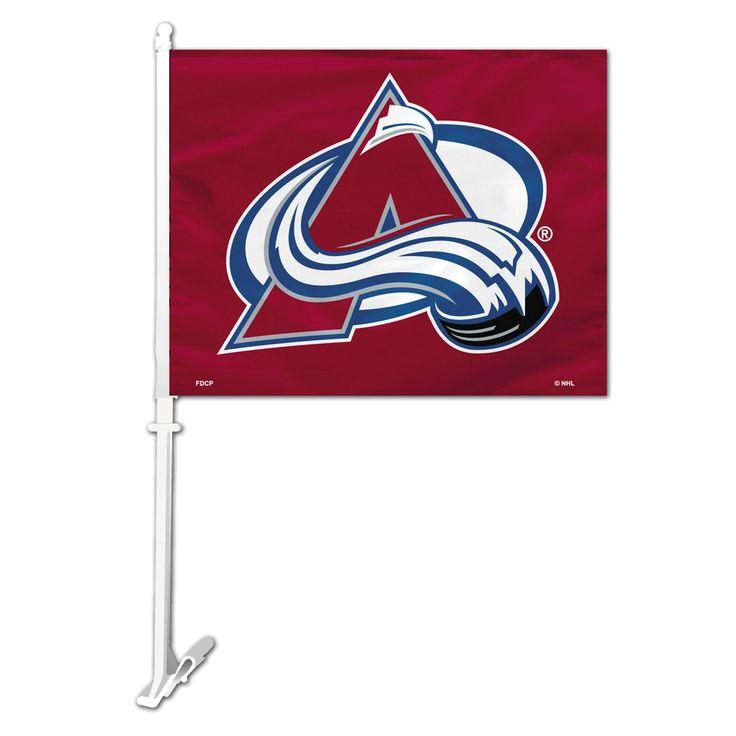 NHL Colorado Avalanche Car Flag W/Wall Brackett