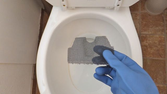 get rid of stubborn toilet rings with drywall sandpaper