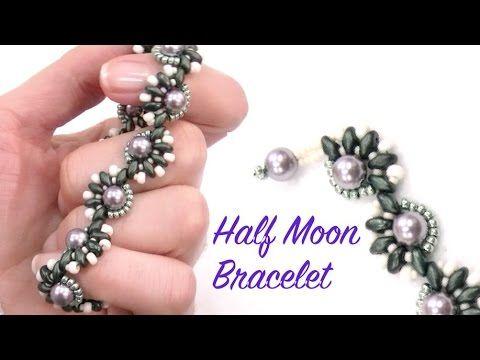 Beading Ideas - Half Moon Bracelet #Seed #Bead #Tutorials