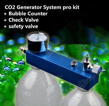 Nova DIY tanque do aquário plantado CO2 sistema gerador kit pro bolha contador + válvula de retenção de válvula de segurança Pet fornecimentos(China (Mainland))