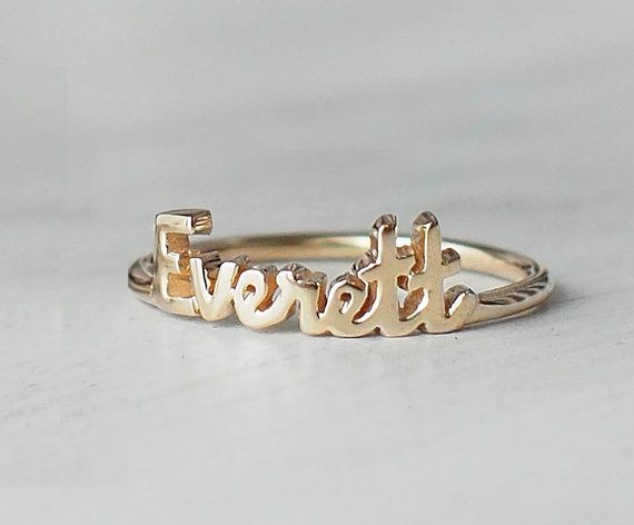 ON SALE   This personalized ring is fully handcrafted, the font is dainty (4mm high for capital letters and 2mm for normal letter).  Please