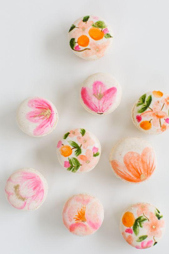 DIY floral macarons | sugar & cloth #glossaryofmacs