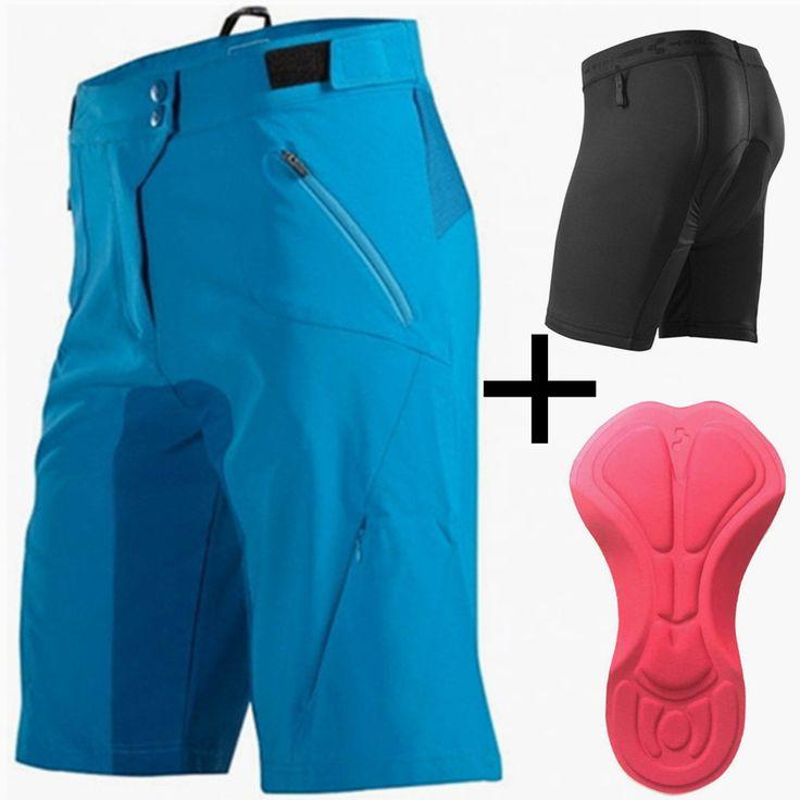 Saenshing Cube Bike Shorts Men Downhill Mtb Shorts+Cycling Underwear 3D Gel Pad Sport Bicycle Cycling Shorts Bermuda Ciclismo  #Affiliate