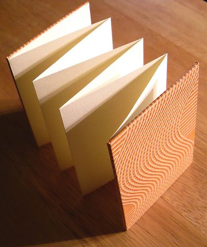 Bookbinding Paste Paper Accordian Open by typesticker, via Flickr