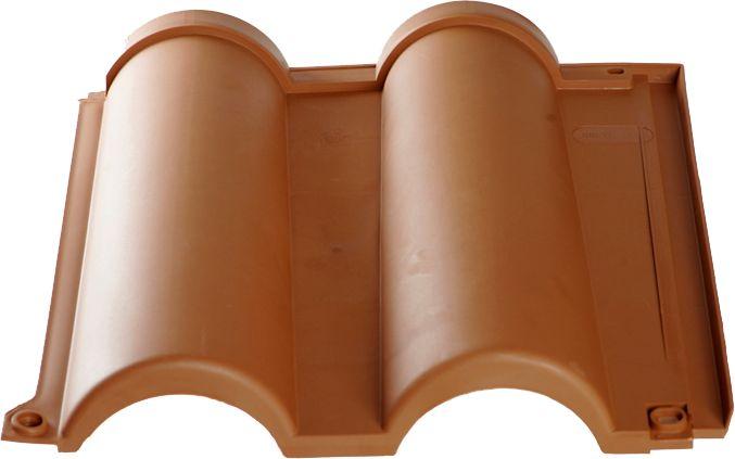 Tuile Romane couleur terre cuite pour toiture légère