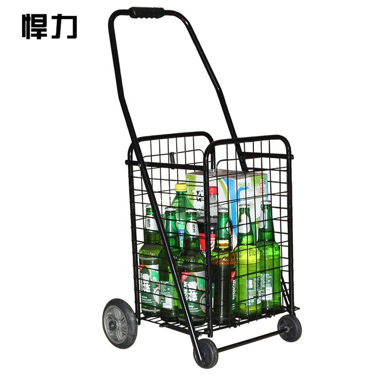 (235.65$)  Buy here - http://ai5ct.worlditems.win/all/product.php?id=32607154591 - Large folding portable shopping cart car trolley car trailer cart luggage cart