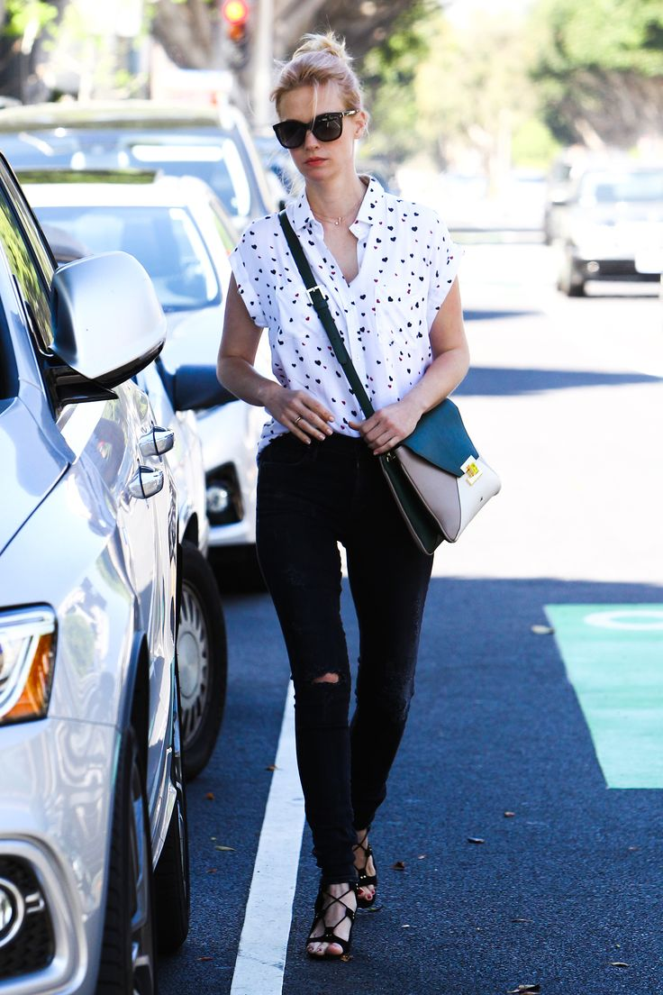 Black sandals jones - Diane Kruger Knows The Formula For The Perfect Off Duty Look