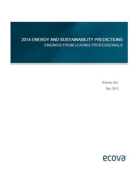 Ecova, an energy and sustainability management company, surveyed nearly 500 energy and sustainability professionals to better understand the biggest challenges and opportunities they expect this year. The report '2014 Energy and Sustainability Predictions: Findings from Leading Professionals' summarizes the results of the survey, providing a real-word view of energy and sustainability management expectations.