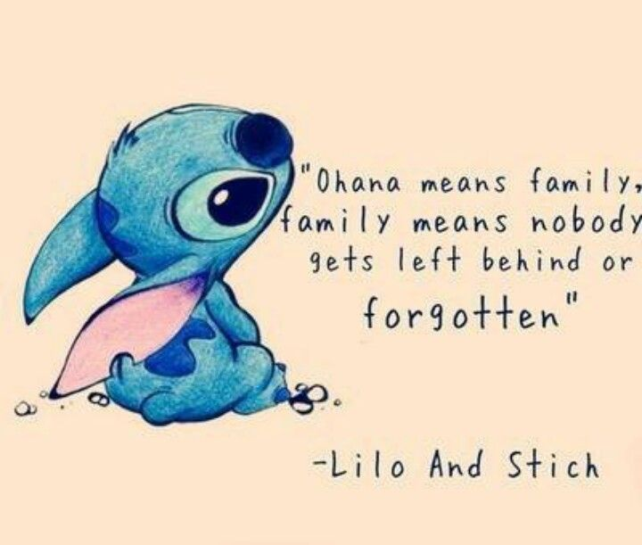 Lilo U0026 Stitch Quote Ohana Ohana Means Family Family Means That Nobody Gets  Left Behind Or Forgotten Fan Art
