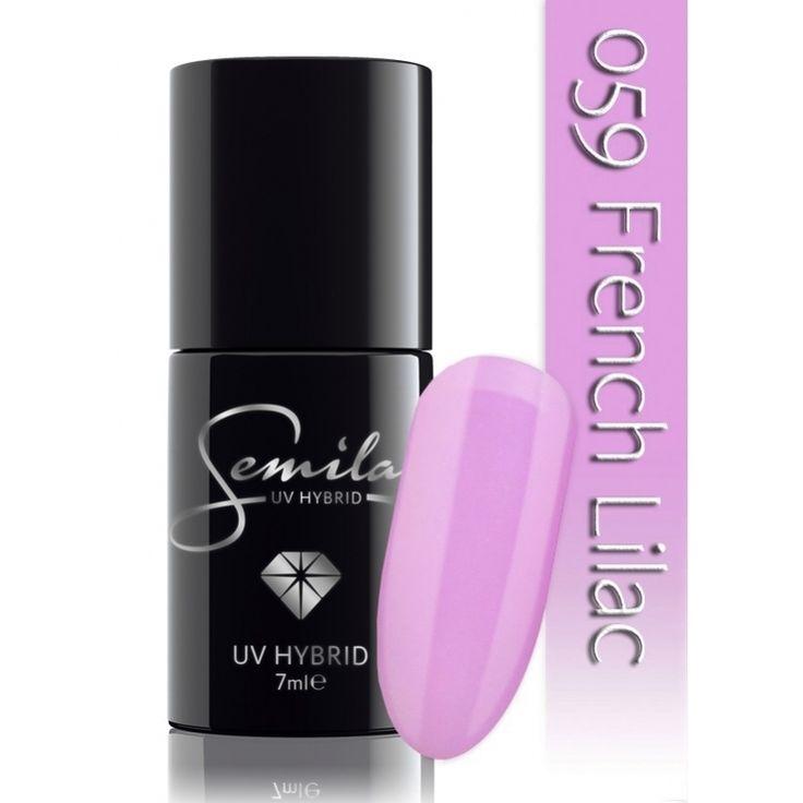 Ημιμόνιμο μανό Semilac - 059 French Lilac 7ml - Semilac | Προϊόντα Μανικιούρ - Πεντικιούρ Semilac & Ημιμόνιμα.