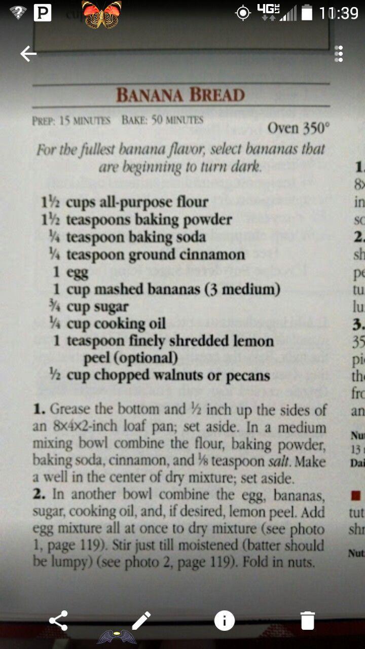 f5afb2905efcbdef21b8bd29d06a0334 - Better Homes And Gardens New Cookbook Banana Bread Recipe