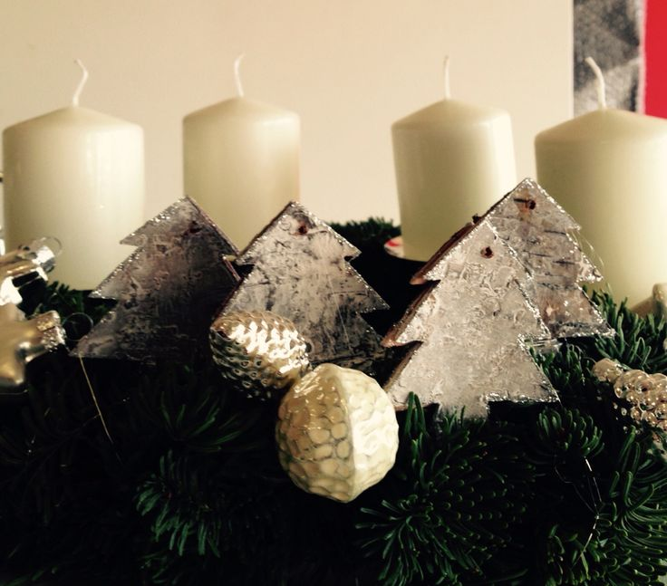 winter forest advent wreath