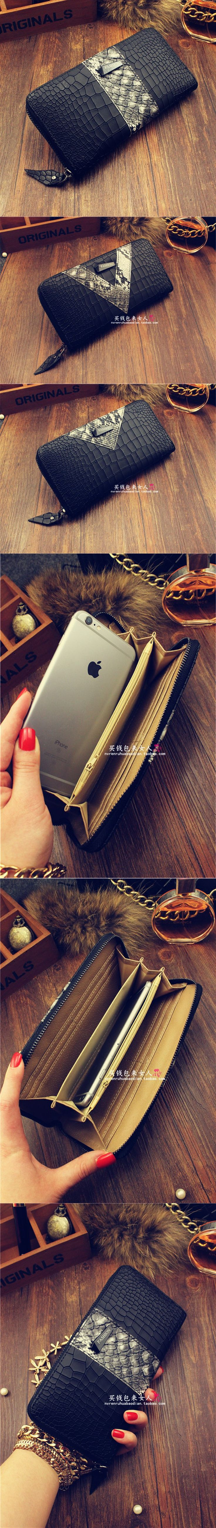 Women Wallets Brand High Quality Leather Wallet Female Zipper Fashion Long Women Wallets And Purse Genuine Leather Wallet Brand $21.88