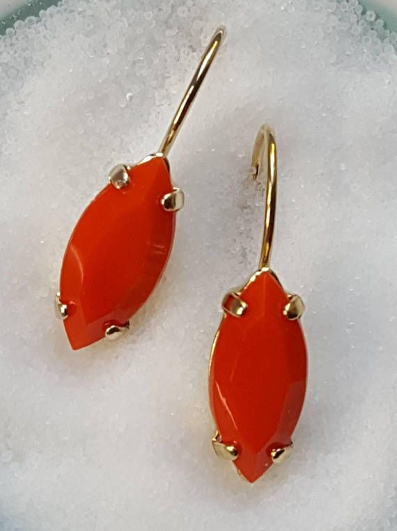 Check out this item in my Etsy shop https://www.etsy.com/ca/listing/561245563/coral-crystal-drop-earringcoral-jewelry