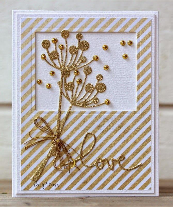 Memory Box - simple Gold elegance.Found on bigganed.blogspot.com
