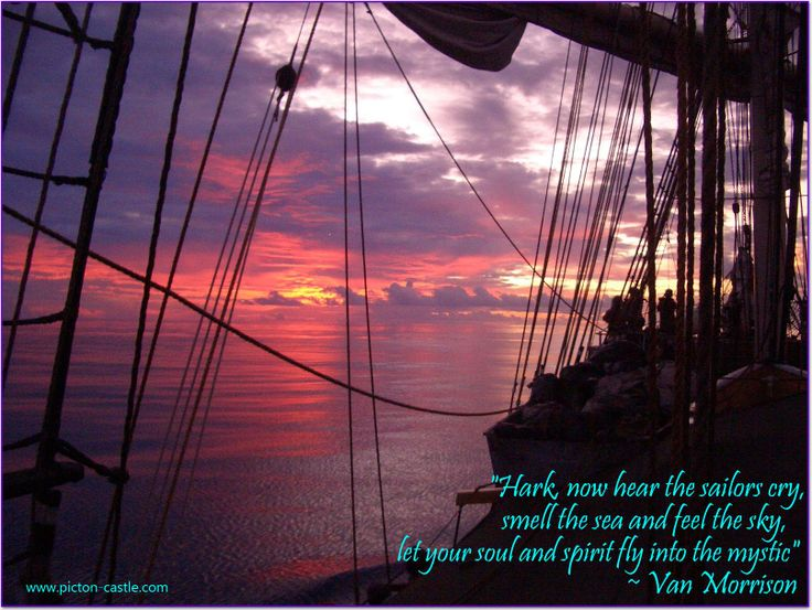 let your soul & spirit fly #sail #ship #tallship #sea #ocean #world #quote #inspirational #vanmorrison #discover #sailing #quotes